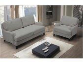 Canapé 2 places en tissu MOANDA - Gris