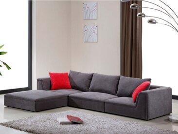 Canapé modulable en tissu HOUSTON - Gris