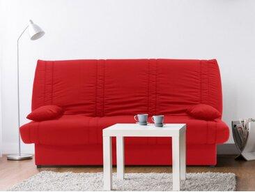 Canapé clic-clac 100% coton avec coffre de rangement FARWEST II - Rouge