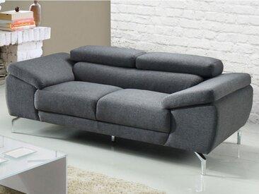 Canapé 2 places en tissu GRETEL - Gris