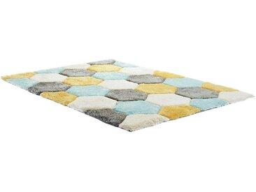 Tapis shaggy effet 3D TOMETTE - Multicolore  - 160*230cm