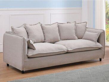 Canapé 3 places en tissu RAMSES - Beige