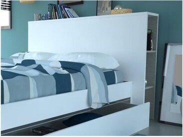 Tête de lit ECLIPSE - Avec rangements - Blanc
