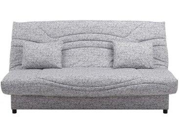 Canapé clic clac en tissu SALOON avec coffre de rangement - Gris imprimé SIGNATURE