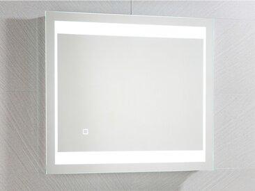 Miroir de salle de bain lumineux rectangle à Leds ALESIA - L60 x P3.5 xH70