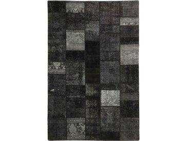 Tapis Patchwork 302x199 Moderne/Design Gris Foncé (Noué à la main, Laine, Perse/Iran)