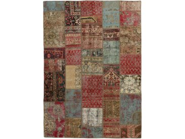 Tapis Fait Main Patchwork 239x171 Beige/Rouille (Laine, Perse/Iran)