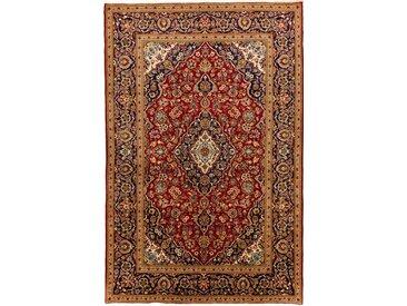 Tapis Persan Kashan 303x199 Kashan Gris Foncé/Rouille (Noué à la main, Perse/Iran, Laine)