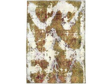 Tapis Vintage Royal 257x181 Gris/Beige (Laine, Perse/Iran, Noué à la main)