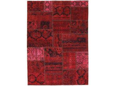 Tapis Patchwork 239x169 Rouille/Violet (Laine, Perse/Iran, Noué à la main)
