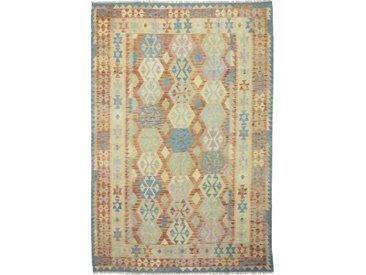 Tapis Kilim Afghan Heritage 300x207 Moderne/Design Gris/Beige (Tissé à la main, Laine, Afghanistan)