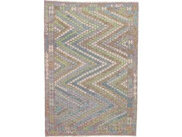 Tapis Kilim Afghan Heritage 293x206 Moderne/Design Gris/Beige (Tissé à la main, Laine, Afghanistan)