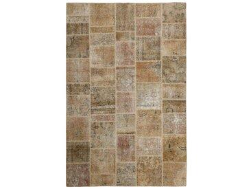 Tapis Patchwork 297x199 Beige/Marron Foncé (Laine, Perse/Iran, Noué à la main)