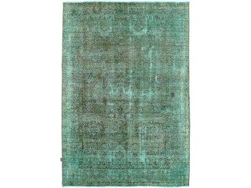 Tapis Vintage 291x199 Bleu/Vert Foncé (Laine, Perse/Iran, Noué à la main)