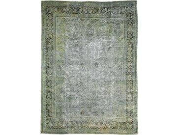 Tapis Vintage Royal 384x286 Gris Foncé/Beige (Laine, Perse/Iran, Noué à la main)