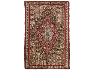 Tapis Kilim Senneh 245x161 Beige/Rouille (Laine, Perse/Iran, Noué à la main)