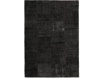 Tapis D'orient Patchwork 241x169 Gris Foncé (Perse/Iran, Laine, Noué à la main)