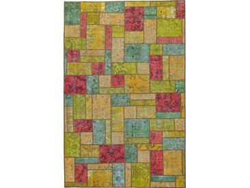 Tapis Persan Patchwork 303x194 Patchwork Gris Foncé/Rouge (Noué à la main, Perse/Iran, Laine)