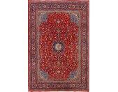Tapis Fait Main Sarough 331x227 Gris Foncé/Rouge Foncé (Laine, Perse/Iran)