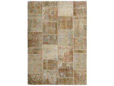 Tapis Patchwork 229x166 Moderne/Design Beige/Marron Foncé (Noué à la main, Laine, Perse/Iran)