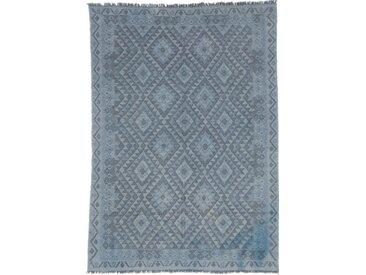 Tapis D'orient Kilim Afghan Heritage Limited 240x172 Gris Foncé/Bleu Clair (Afghanistan, Laine, Tissé à la main)