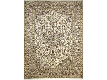 Tapis Persan Kashan 338x252 Kashan Gris/Beige (Noué à la main, Perse/Iran, Laine)