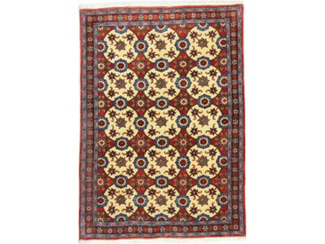 Tapis Fait Main Waramin 147x104 Marron/Rose (Laine, Perse/Iran)