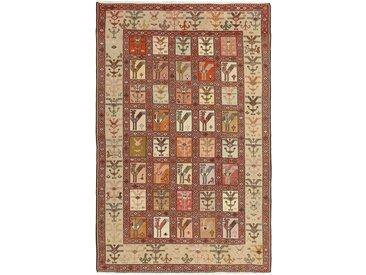 Tapis Kilim Soumak Shahsavan 190x123 Beige/Marron (Laine, Perse/Iran, Noué à la main)