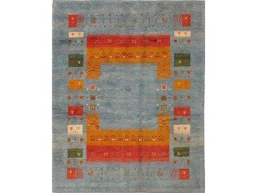 Tapis Persan Gabbeh Loribaft 200x159 Moderne/Design Gris Foncé/Orange (Noué à la main, Laine, Perse/Iran)