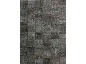 Tapis Patchwork 353x251 Gris Foncé/Marron Foncé (Laine, Perse/Iran, Noué à la main)