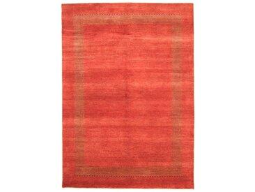Tapis Gabbeh Loribaft 242x172 Moderne/Design Coureur Orange/Rouge (Noué à la main, Laine, Inde)