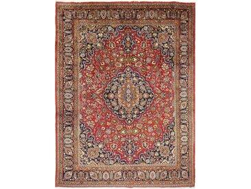 Tapis D'orient Mashhad 393x293 Marron/Violet (Laine, Perse/Iran, Noué à la main)