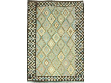 Tapis D'orient Kilim Afghan Heritage 295x207 Beige/Marron Foncé (Afghanistan, Laine, Tissé à la main)