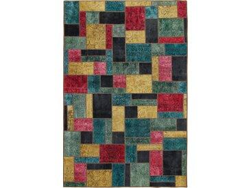 Tapis Fait Main Patchwork 299x197 Gris Foncé/Rouille (Laine, Perse/Iran)