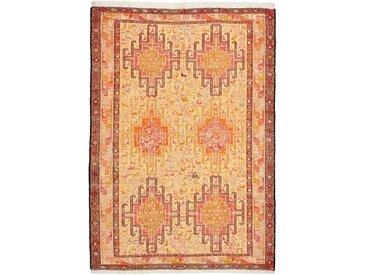 Tapis Authentique Kilim Soumak Soie 146x103 Orange/Rose (Soie, Inde, Noué à la main)