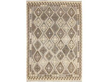 Tapis Kilim Afghan Heritage 247x175 Moderne/Design Beige/Marron Foncé (Tissé à la main, Laine, Afghanistan)