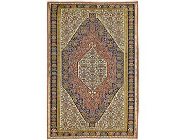 Tapis Kilim Senneh 308x207 Beige/Marron (Laine, Perse/Iran, Noué à la main)