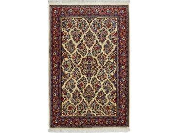 Tapis D'orient Sarough 161x104 Beige/Marron Foncé (Laine, Perse/Iran, Noué à la main)
