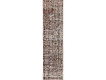 Tapis D'orient Vintage Royal 314x79 Gris/Beige (Perse/Iran, Laine, Noué à la main)