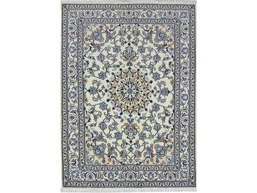 Tapis Persan Naïn 230x165 Naïn Gris Foncé/Beige (Noué à la main, Perse/Iran, Laine)