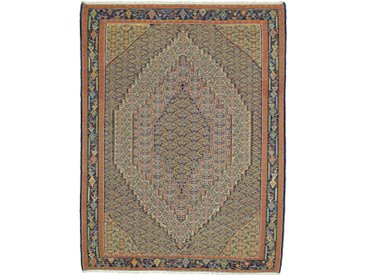 Tapis Kilim Senneh 281x210 Beige/Marron (Laine, Perse/Iran, Noué à la main)