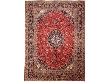 Tapis Kashan 418x307 Rouille/Rose (Laine, Perse/Iran, Noué à la main)