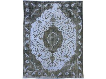 Tapis Vintage Royal 377x272 Gris Foncé/Bleu (Laine, Perse/Iran, Noué à la main)