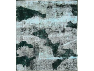 Tapis Vintage Royal 197x169 Gris Foncé/Bleu Foncé (Laine, Perse/Iran, Noué à la main)
