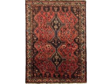 Tapis Persan Shiraz 246x180 Shiraz Marron/Rouille (Noué à la main, Perse/Iran, Laine)