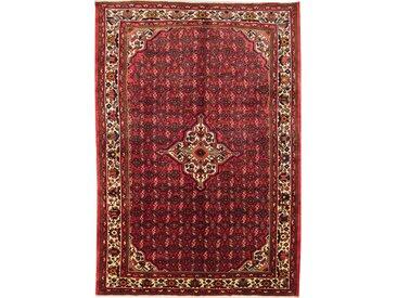 Tapis Persan Hosseinabad 306x209 Hosseinabad Marron Foncé/Rose (Noué à la main, Perse/Iran, Laine)