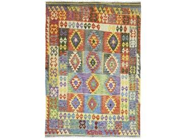 Tapis Kilim Afghan Heritage 283x196 Moderne/Design Beige/Marron Foncé (Tissé à la main, Laine, Afghanistan)