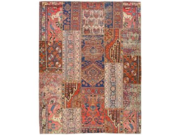 Tapis Patchwork 294x224 Moderne/Design Beige/Rose (Noué à la main, Laine, Perse/Iran)