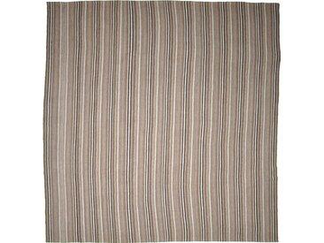 Tapis Kilim Fars Mazandaran Antique 308x309 Carré Gris/Marron Foncé (Laine, Perse/Iran, Noué à la main)