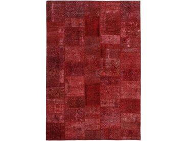 Tapis Patchwork 302x204 Moderne/Design Rouille/Rouge Foncé (Noué à la main, Laine, Perse/Iran)